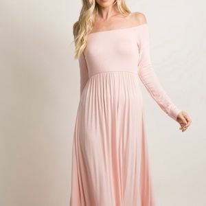 Pinkblush off the shoulder pink maxi dress
